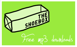 A box of shoes. Without shoes. With mp3s.
